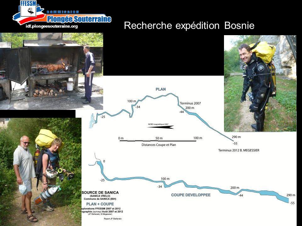 http://idf.plongeesouterraine.org Recherche expédition Bosnie