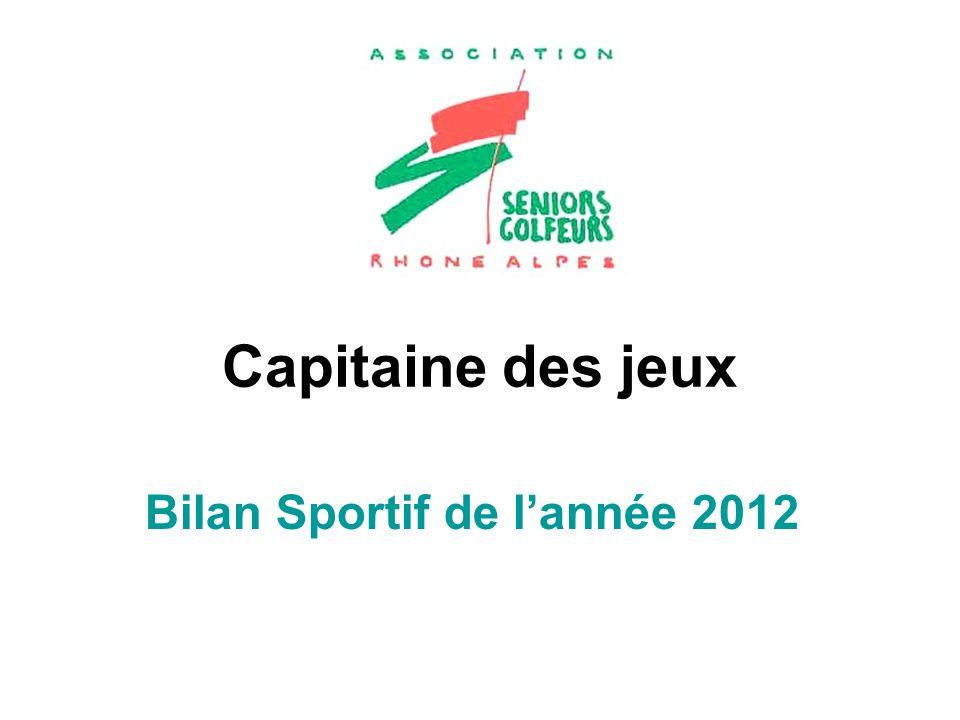 Capitaine des jeux Bilan Sportif de lannée 2012