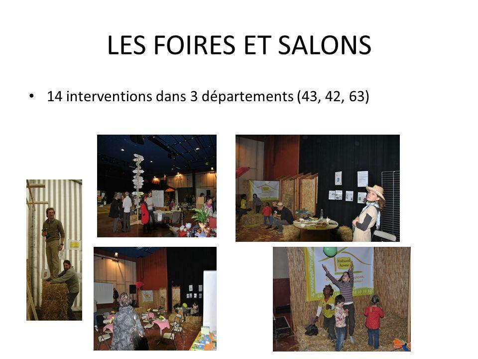 LES FOIRES ET SALONS En 2010 : Au minimum : Beaulieu Langeac Primevère (Lyon) Couronne Clermontoise