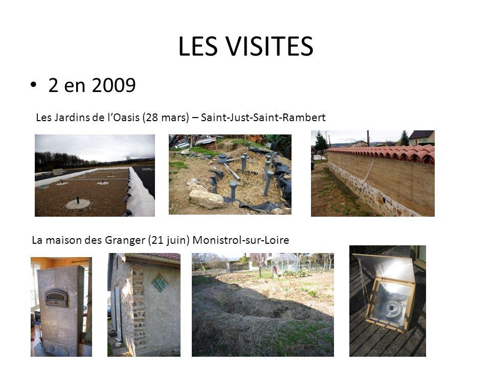 LES VISITES En 2010 propositions de visites : - Le hameau des Buis (La Blachère 07) Initiative de la fille de P.