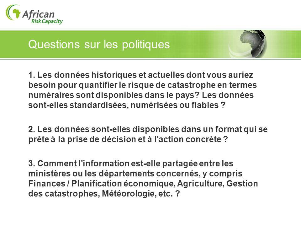 Questions sur les politiques 1.