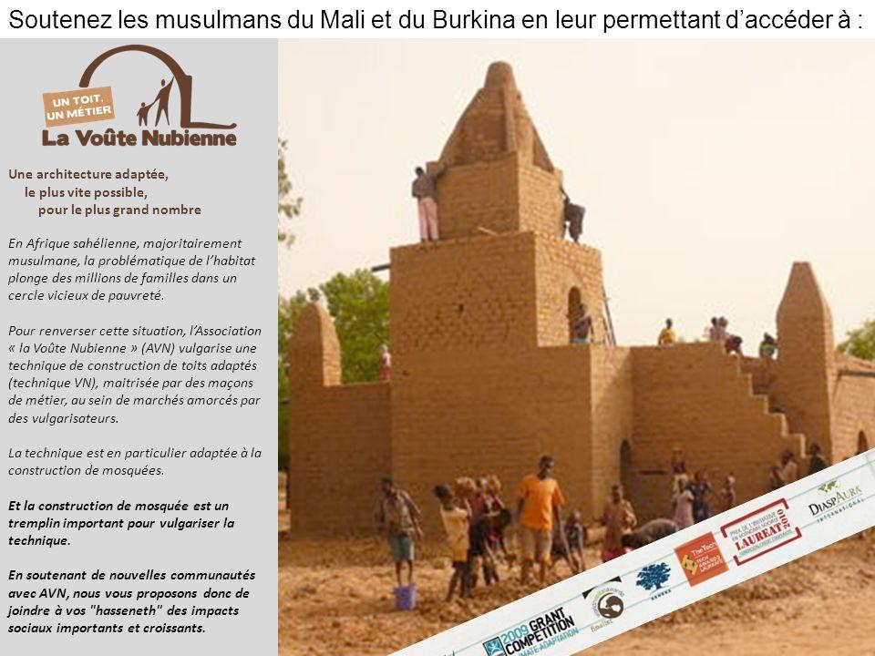 Une architecture adaptée, le plus vite possible, pour le plus grand nombre En Afrique sahélienne, majoritairement musulmane, la problématique de lhabi