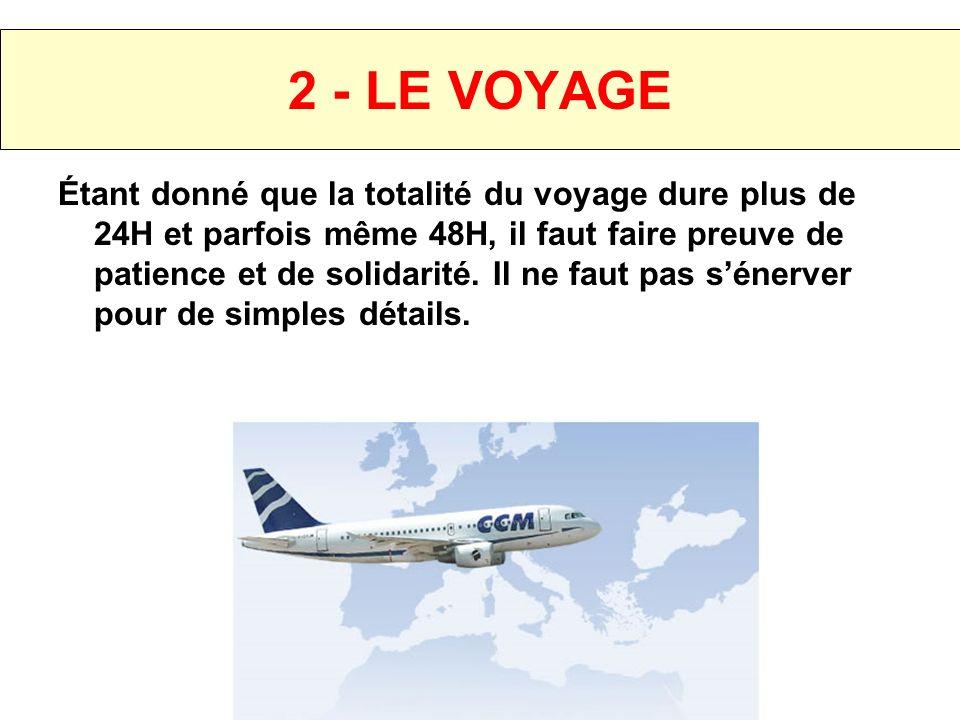 2 - LE VOYAGE Départ prévu tôt le samedi matin vers Maurice.