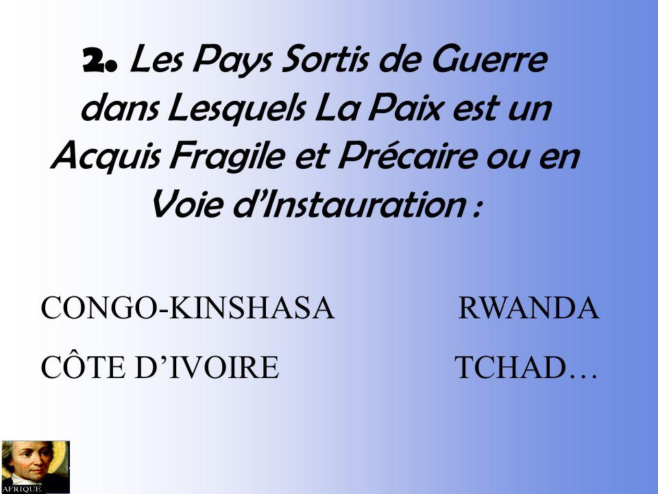 1. Les Pays Où La Culture Démocratique Senracine Dans Le Jeu Politique : BÉNIN KENYA, AFRIQUE DU SUD NIGER MALI MADAGASCAR