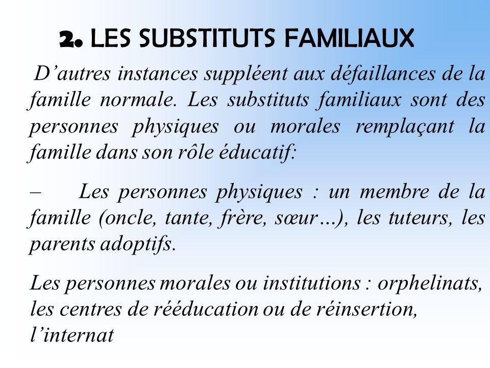 On constate également lexistence de familles recomposées.