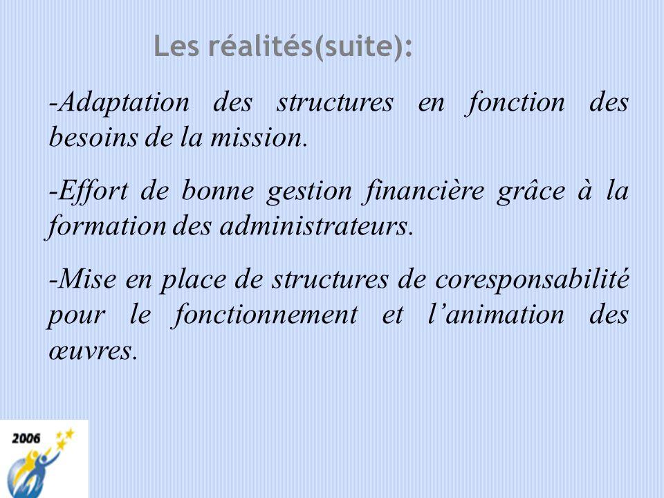 1. ANALYSE DE LA SITUATION a) Les réalités : -Lenfant reste le centre dintérêt de la mission et il y a des efforts pour être attentif à sa situation e