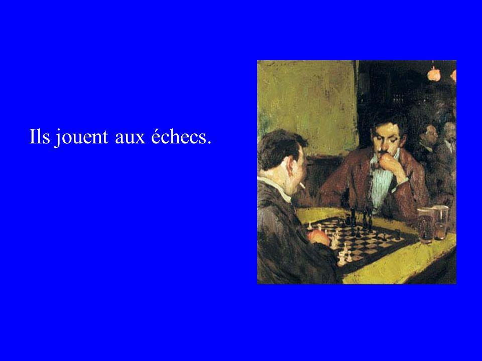 Ils jouent aux échecs.