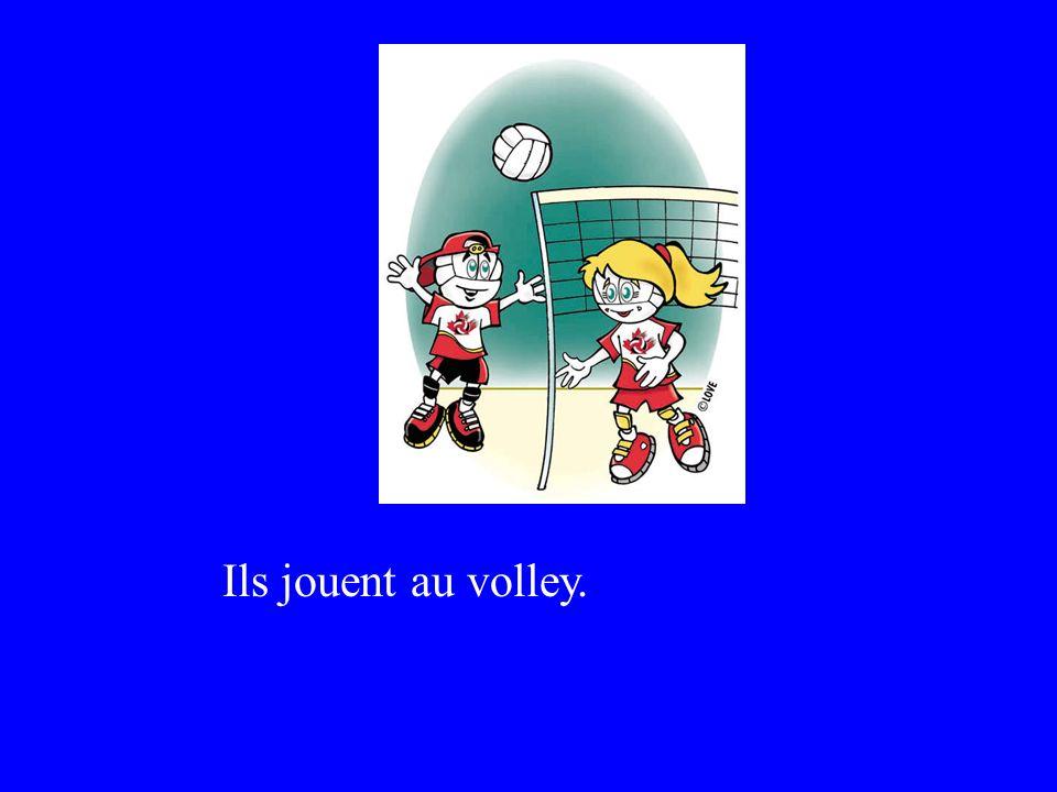 Ils jouent au volley.
