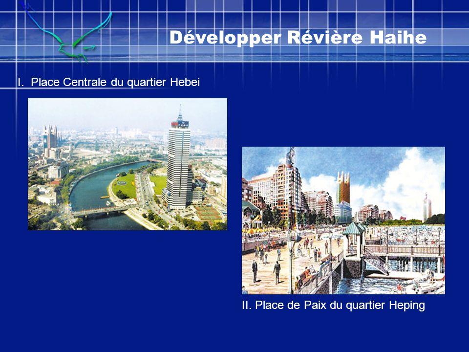 Développer Révière Haihe I. Place Centrale du quartier Hebei II. Place de Paix du quartier Heping