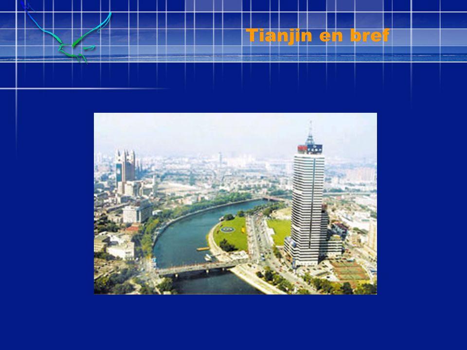 La plus grande ville côtière ouverte au nord de la Chine Superficie: 11,900 km 2 Ligne côtière : 153 km 18 districts administratifs Population permanente : 10 million Age de la ville: 600 ans