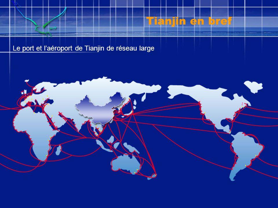 Opportunité dinvestissement et Coopération 88 grand projects Investissement total : $26milliard IndustrieAgricultureInfrastructure Commerce et Tourism Science et Technologie Banque et assurance Tianjin en bref