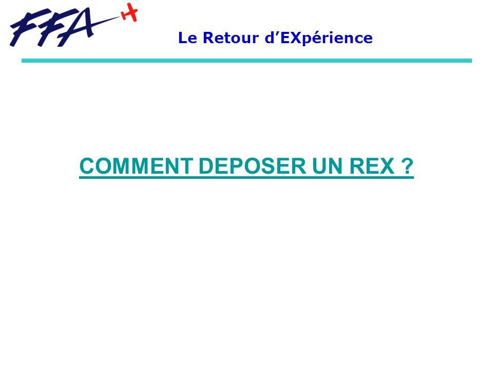 COMMENT DEPOSER UN REX ? Le Retour dEXpérience