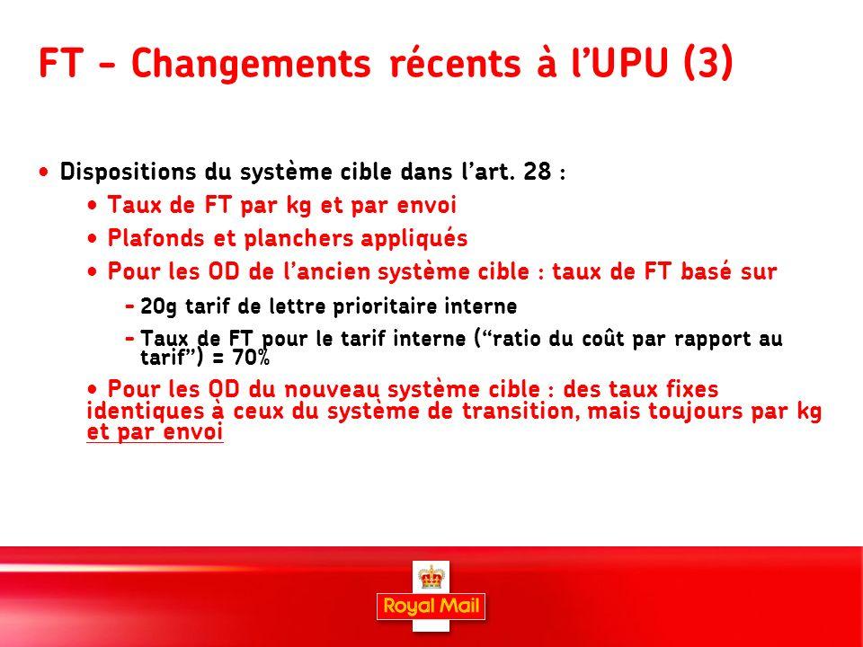 8 FT - Changements récents à lUPU (3) Dispositions du système cible dans lart.