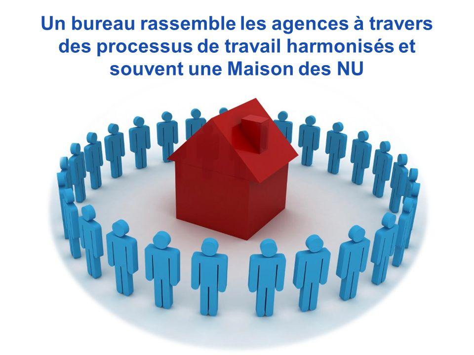 Un bureau rassemble les agences à travers des processus de travail harmonisés et souvent une Maison des NU