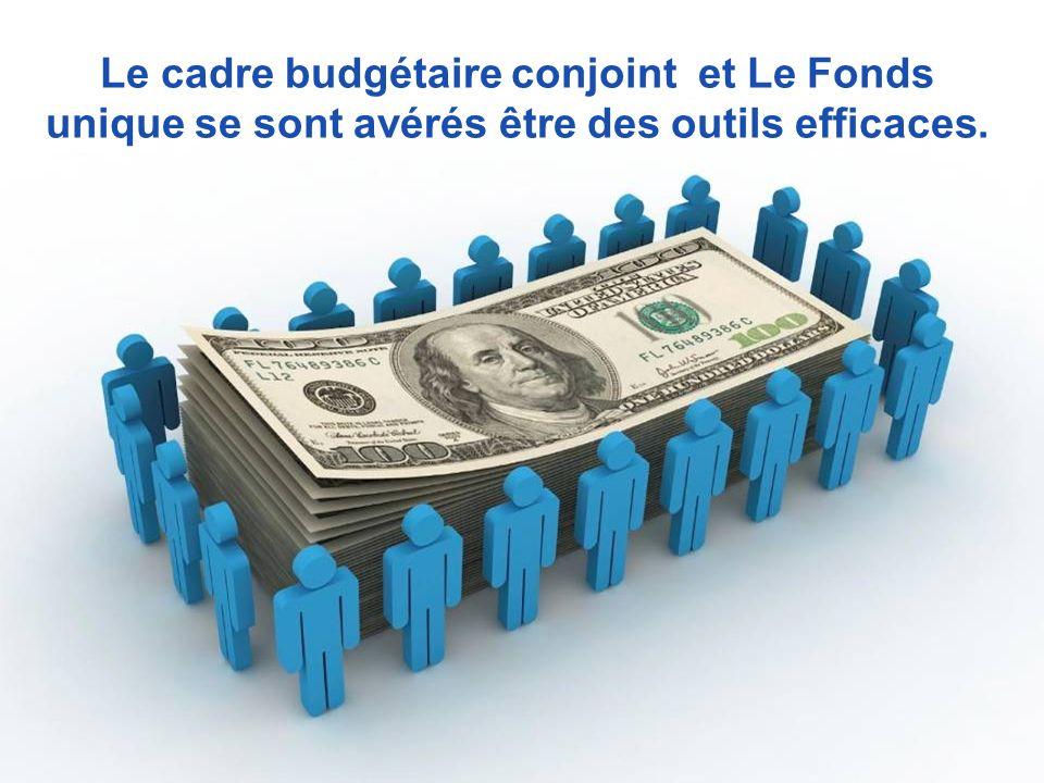 Le cadre budgétaire conjoint et Le Fonds unique se sont avérés être des outils efficaces.