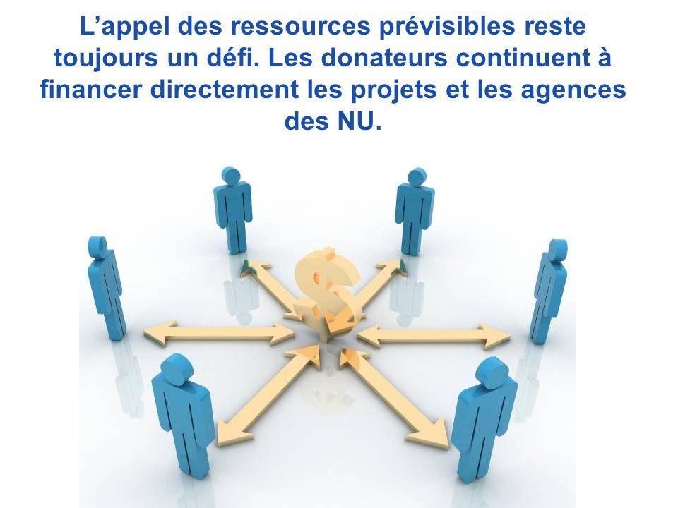 Les capacités humaines et financières des agences non résidentes Les lacunes en matière de capacités de communication La mentalité du projet et de lagence Autres défis