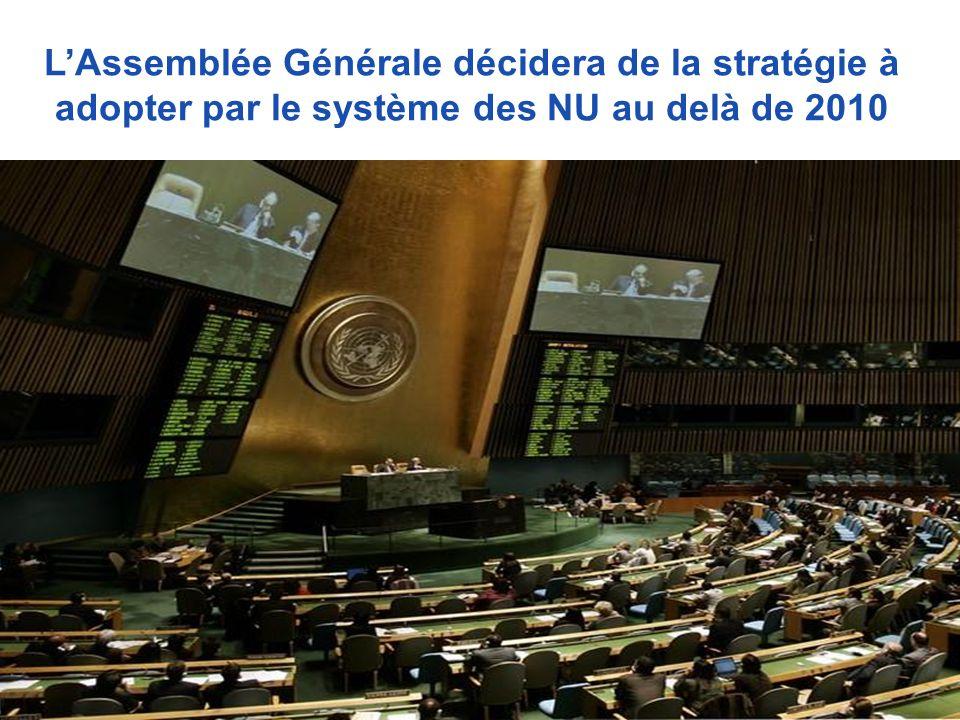 LAssemblée Générale décidera de la stratégie à adopter par le système des NU au delà de 2010