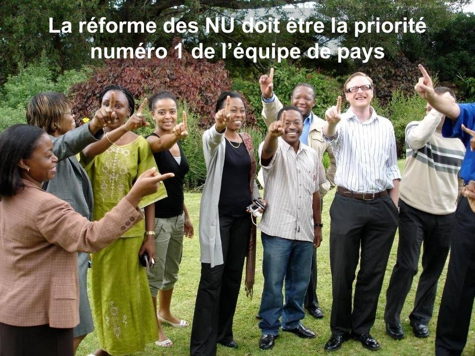 La réforme des NU doit être la priorité numéro 1 de léquipe de pays