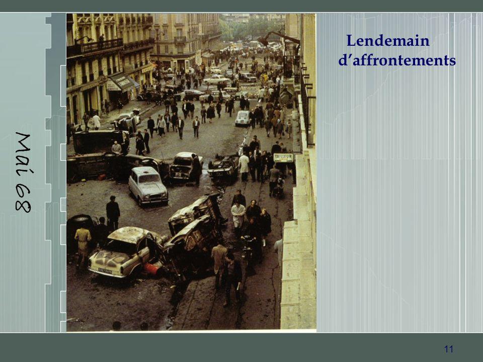 11 Mai 68 Lendemain daffrontements