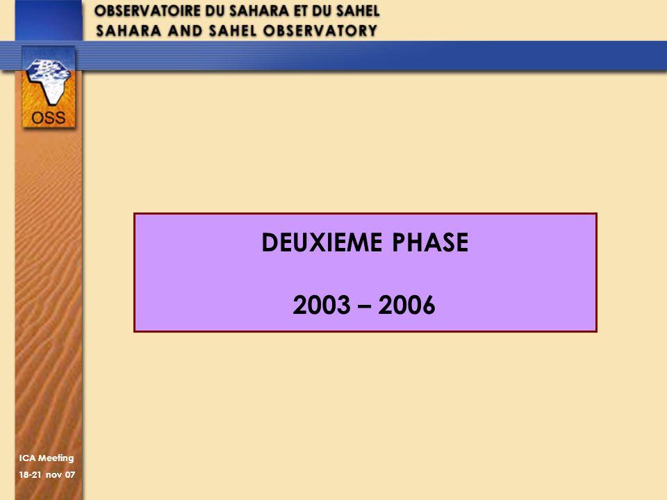ICA Meeting 18-21 nov 07 DEUXIEME PHASE 2003 – 2006