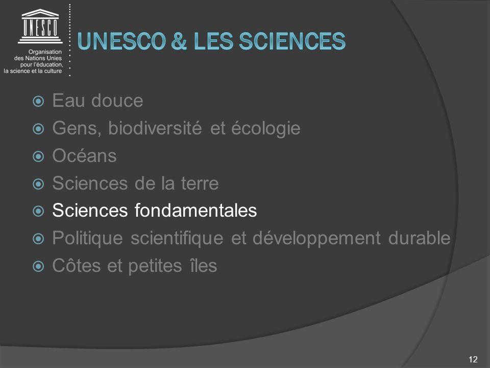 Eau douce Gens, biodiversité et écologie Océans Sciences de la terre Sciences fondamentales Politique scientifique et développement durable Côtes et p