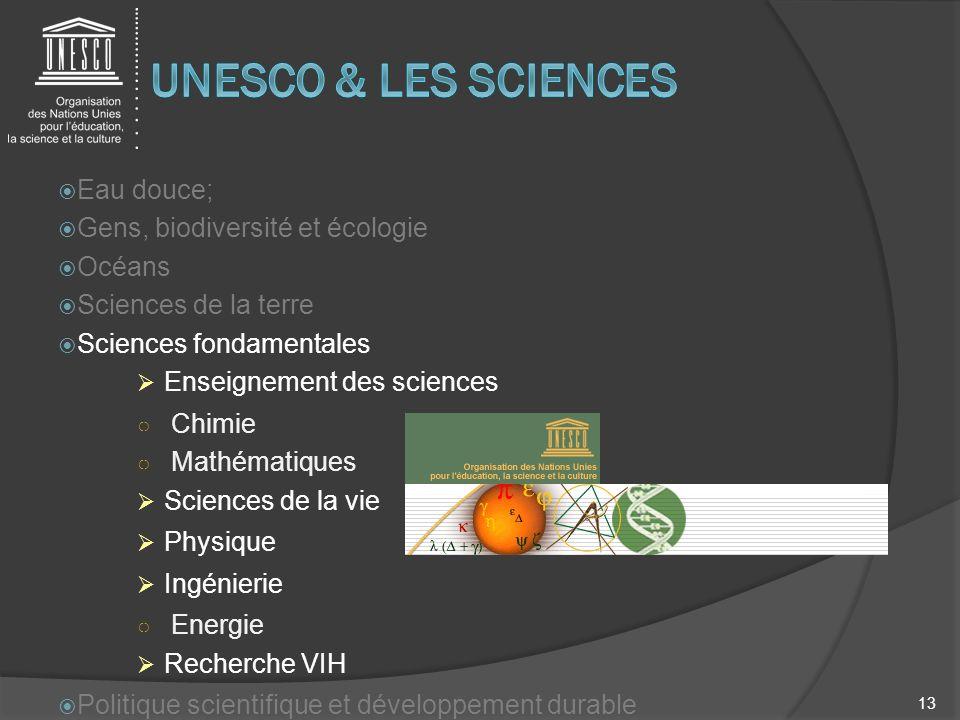 Eau douce; Gens, biodiversité et écologie Océans Sciences de la terre Sciences fondamentales Enseignement des sciences Chimie Mathématiques Sciences d