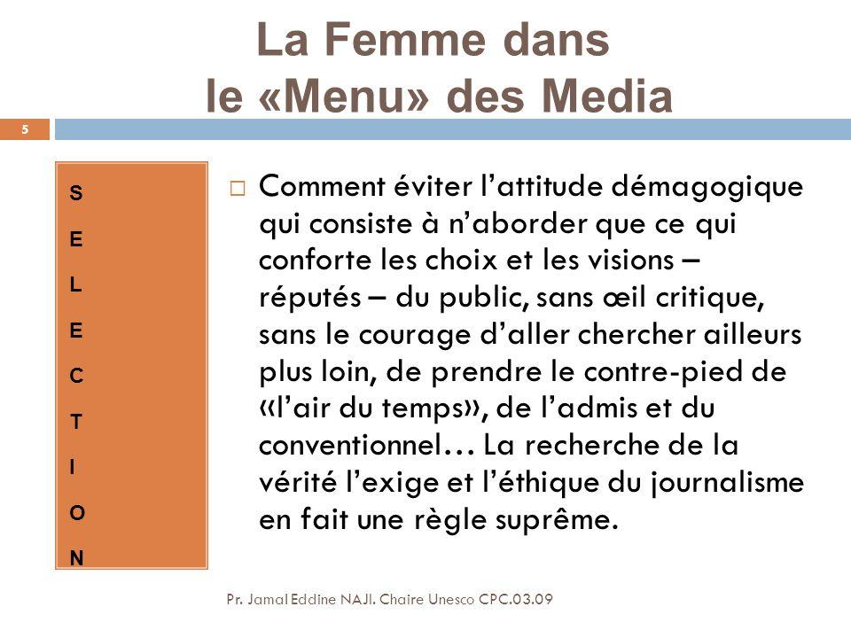 Media au Féminin… Pr.Jamal Eddine NAJI.