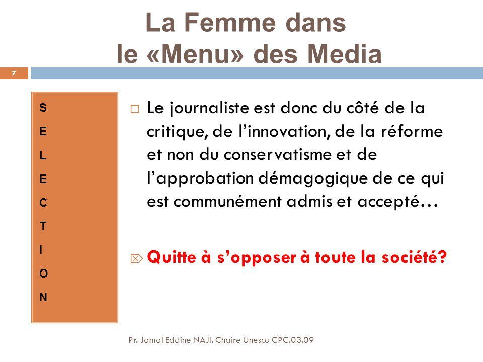 La Femme dans le «Menu» des Media Pr.Jamal Eddine NAJI.
