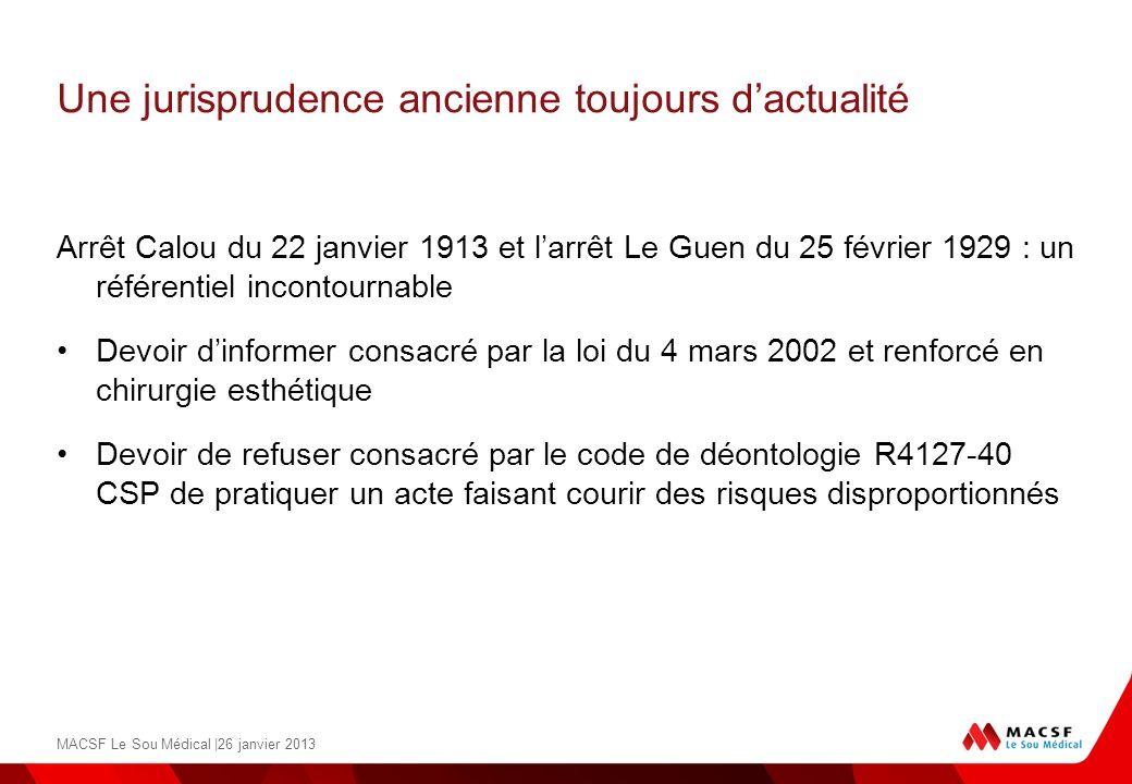 Une jurisprudence ancienne toujours dactualité Arrêt Calou du 22 janvier 1913 et larrêt Le Guen du 25 février 1929 : un référentiel incontournable Dev