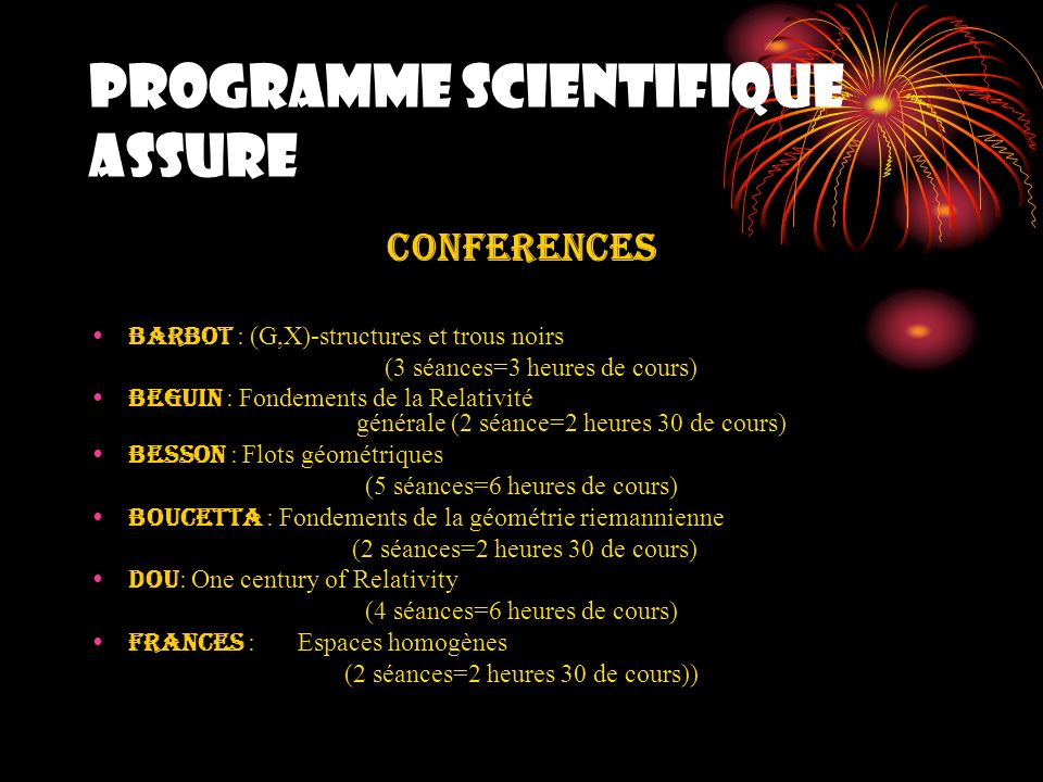 STATISTIQUES PARTICIPANTS Université ANNABA : (01 participante) Université Oum El Bouaghi : (01 participante) Université Sétif : (01 participant) TOTAL : 71 participants dAlgérie
