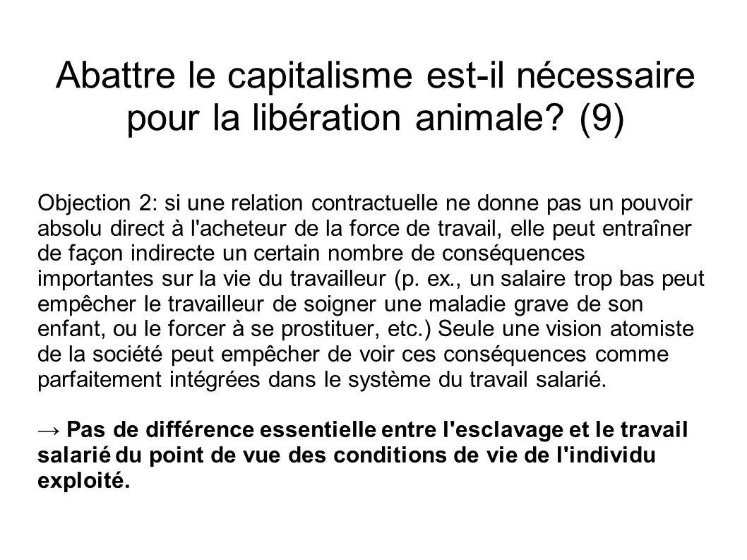Abattre le capitalisme est-il nécessaire pour la libération animale? (9) Objection 2: si une relation contractuelle ne donne pas un pouvoir absolu dir
