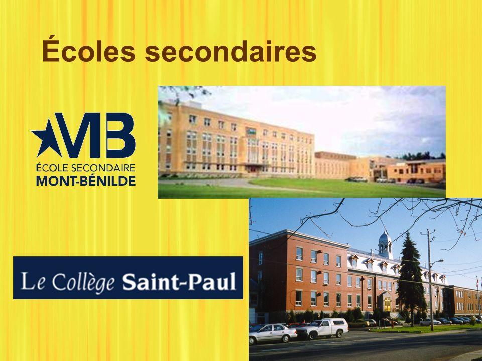 Écoles secondaires