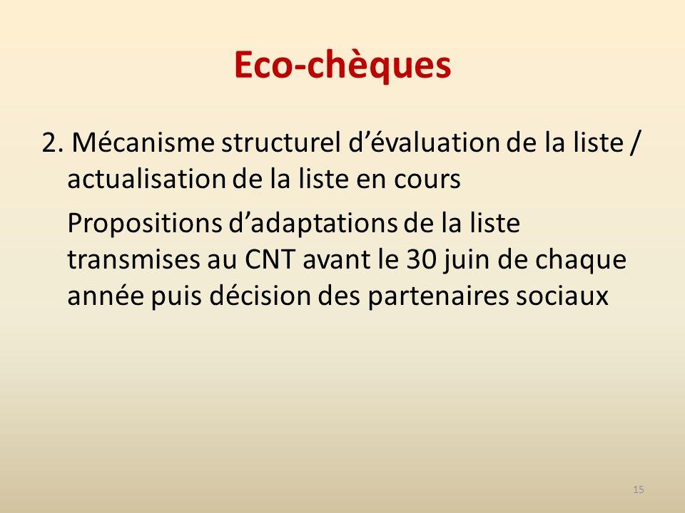 15 Eco-chèques 2.