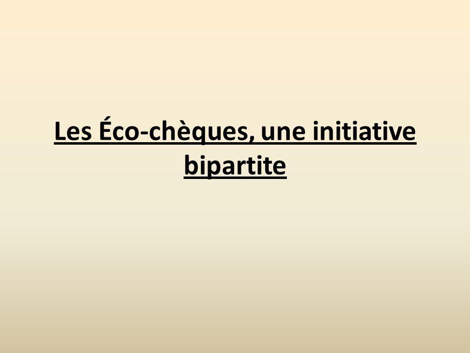 Les Éco-chèques, une initiative bipartite