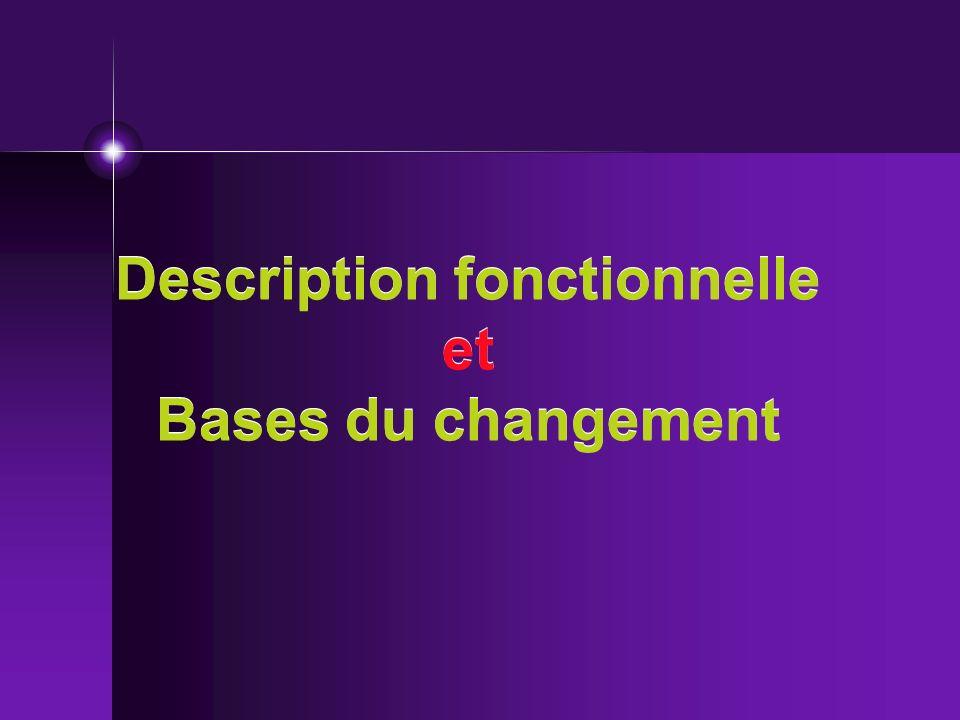 Description fonctionnelle et Bases du changement