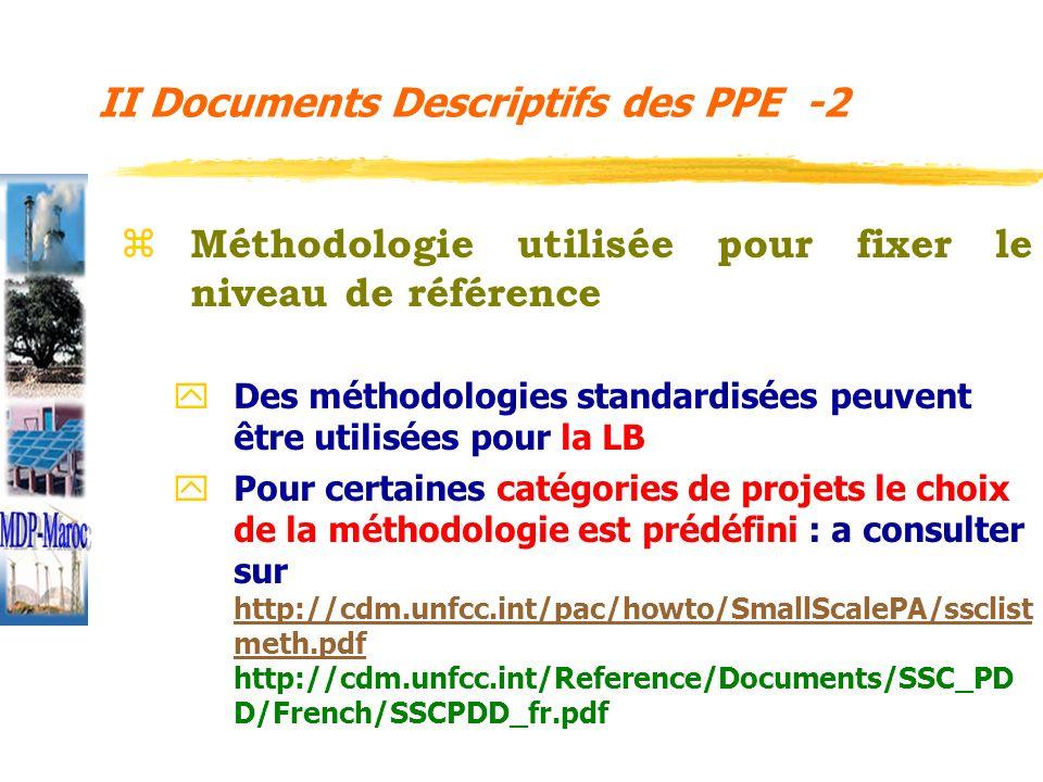 z Méthodologie utilisée pour fixer le niveau de référence y Des méthodologies standardisées peuvent être utilisées pour la LB y Pour certaines catégor