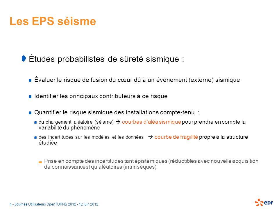 15 - Journée Utilisateurs OpenTURNS 2012 - 12 juin 2012 Chaînage OpenTURNS – Code_Aster Module JobManager : Serveur de calcul Paramètres de lancement du schéma de calcul