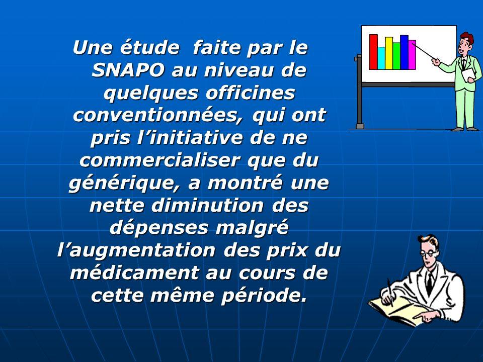 De part son droit de substitution, le pharmacien peut apporter une contribution inestimable dans la réduction des dépenses de la sécurité sociale en o