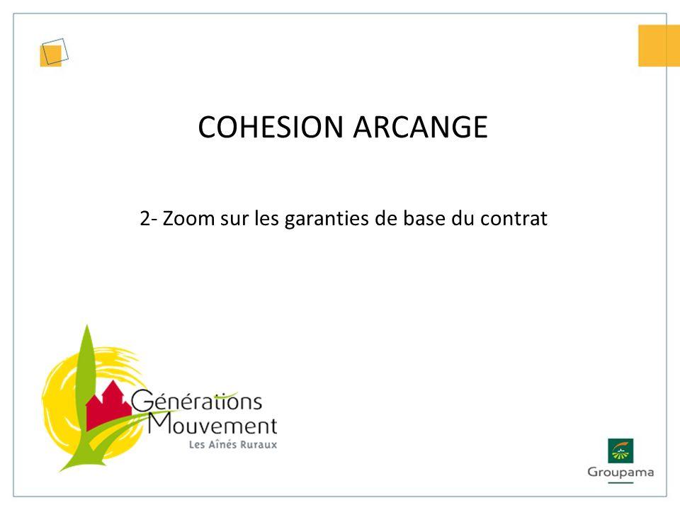 COHESION ARCANGE 2- Zoom sur les garanties optionnelles