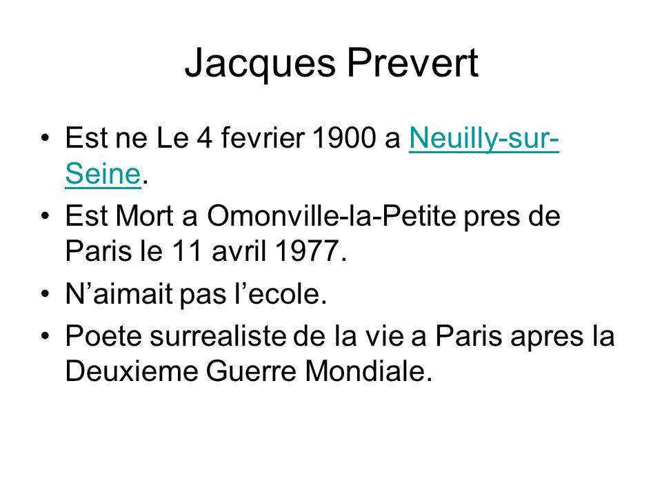 Est ne Le 4 fevrier 1900 a Neuilly-sur- Seine.Neuilly-sur- Seine Est Mort a Omonville-la-Petite pres de Paris le 11 avril 1977. Naimait pas lecole. Po