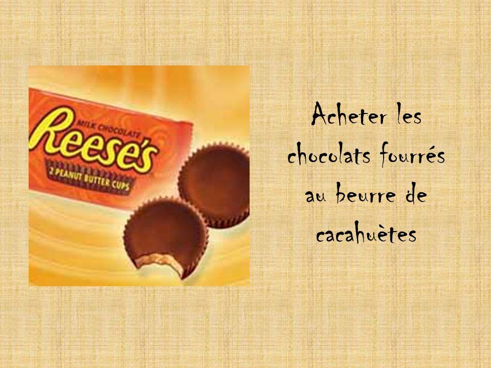 Acheter les chocolats fourrés au beurre de cacahuètes
