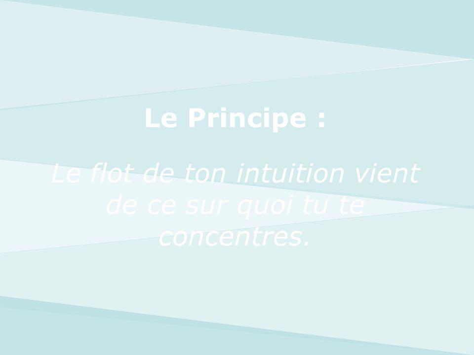 Le Principe : Le flot de ton intuition vient de ce sur quoi tu te concentres.