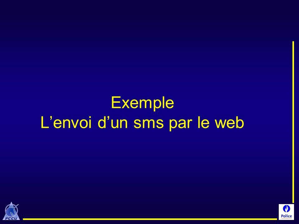 Exemple Lenvoi dun sms par le web