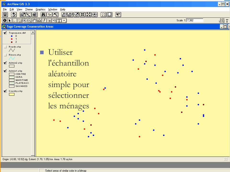 Atelier RBM-MERG sur la formation à lEIP, 6 au 9 octobre 2008, Dakar, Sénégal 4 Méthodes (échantillonnage) Utiliser l échantillon aléatoire simple pour sélectionner les ménages
