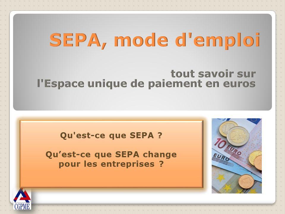Toutes les entreprises seront concernées à plus ou moins longue échéance par les instruments de paiement SEPA, même si elles nont pas dactivité internationale.