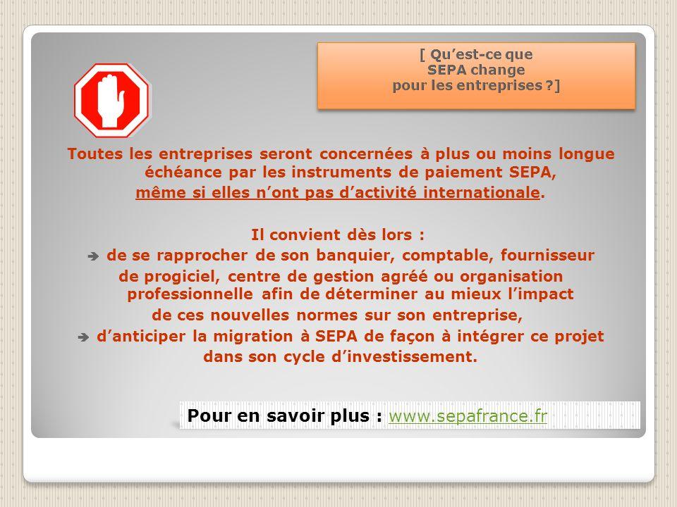 Exemples dopérations de mise en conformité à exécuter par les entreprises (Préconisations extraites du guide SEPA gestion de projet en entreprise réal