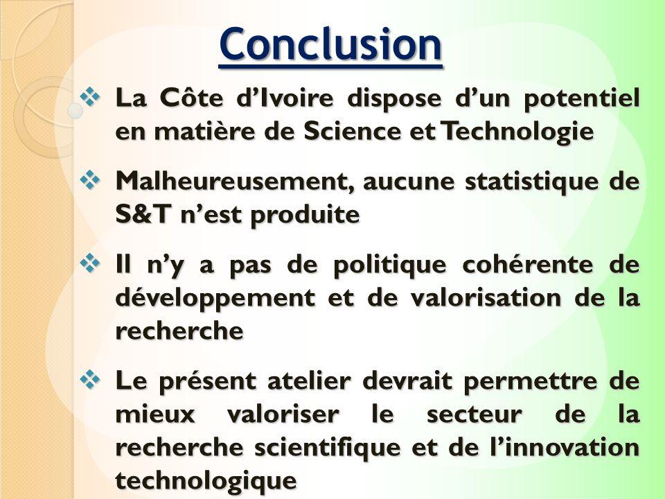 La Côte dIvoire dispose dun potentiel en matière de Science et Technologie La Côte dIvoire dispose dun potentiel en matière de Science et Technologie