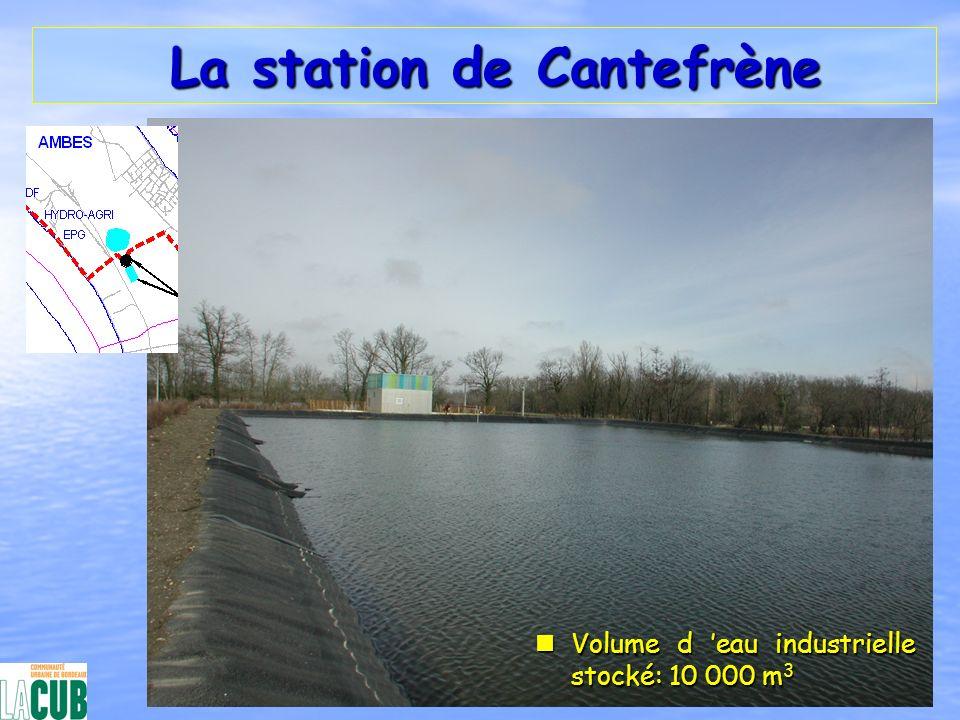 La station de Cantefrène La station de Cantefrène nVolume d eau industrielle stocké: 10 000 m 3