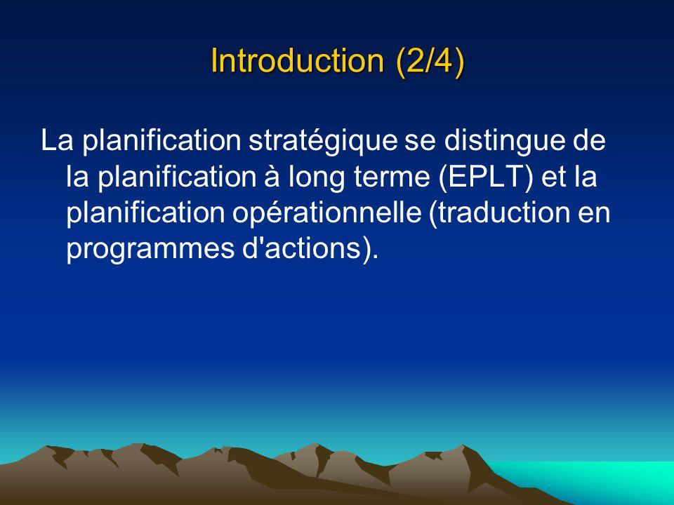 Introduction (3/4) Quatre questions fondamentales : Quel est l objectif de notre développement (vision).