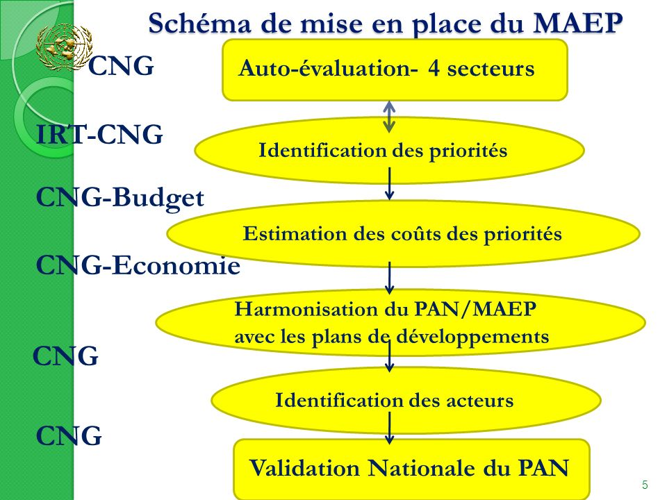 Schéma de mise en place du MAEP Schéma de mise en place du MAEP 11/14/2013 5 CNG IRT-CNG CNG-Budget CNG-Economie CNG Auto-évaluation- 4 secteurs Ident